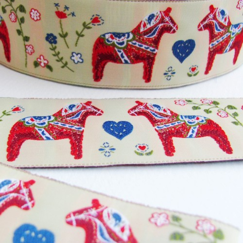 Swedish Dala Horse Ribbon is back by popular demand!